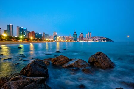 Haeundae beach in Busan, South Korea