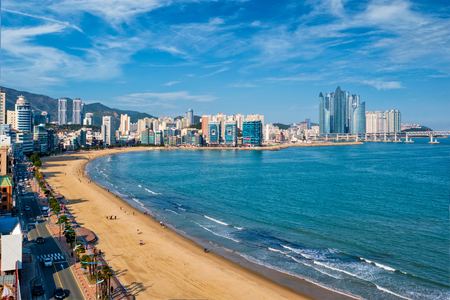 Gwangalli Beach in Busan, South Korea Stock Photo