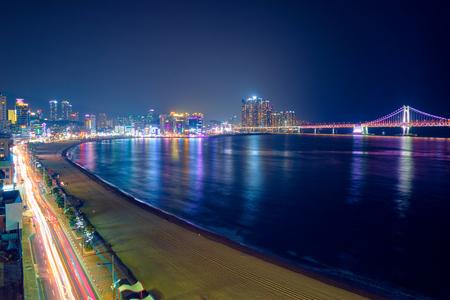 Gwangalli Beach in Busan, South Korea Stok Fotoğraf