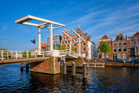 Gravestenenbrug bridge in Haarlem, Netherlands Stock Photo
