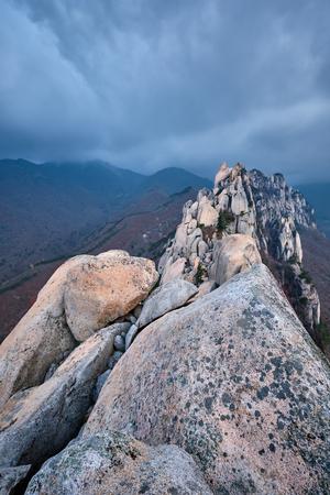 View from Ulsanbawi rock peak. Seoraksan National Park, South Corea Stock Photo