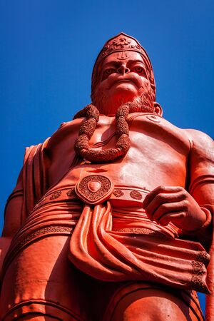 Worlds tallest statue of Lord Hanuman, India Stock Photo