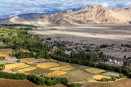 View of Indus valley in Himalayas Stock Photo