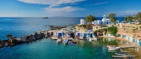 Mandrakia village in Milos island, Greece Banque d'images
