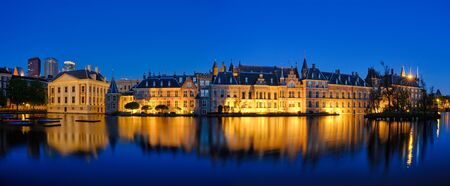 Hofvijver lake and Binnenhof , The Hague
