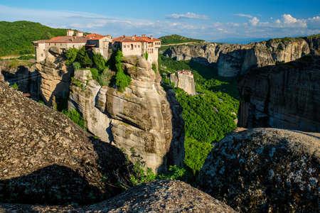 Monasteries of Meteora, Greece Фото со стока