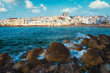 Picturesque Naousa town on Paros island, Greece
