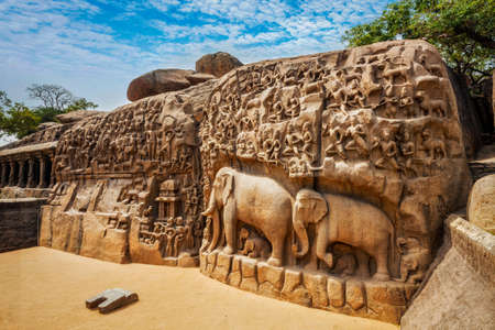 Descent of the Ganges and Arjunas Penance, Mahabalipuram, Tamil