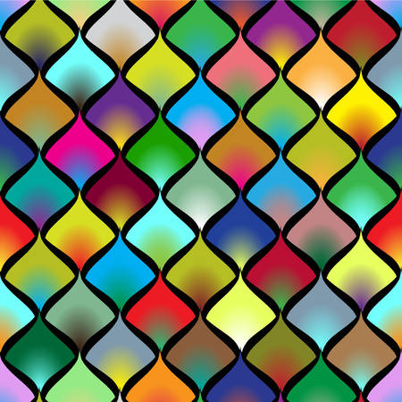 Colorful seamless pattern of petals. Vector, EPS10