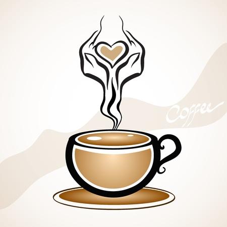 Forma di tazza di caffè alla moda Vettoriali