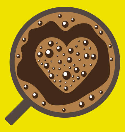 love image: Coffee with love image Illustration