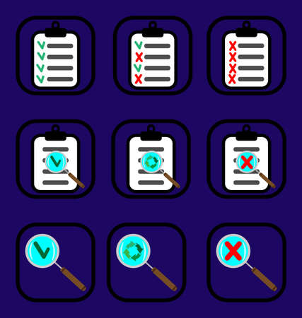 Check list icons set Illustration