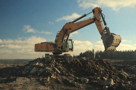 gravel pit: Power Shovel Working in Gravel Pit
