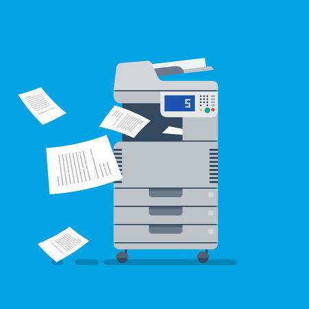 Office Wielofunkcyjny skaner drukarki Ilustracje wektorowe
