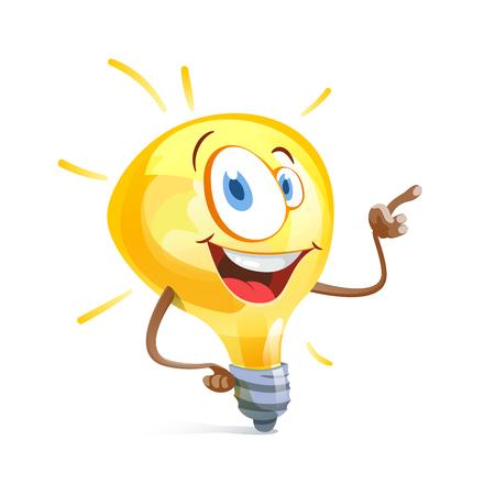Funny idea bulb pointing