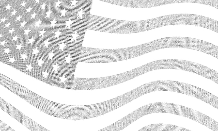 USA dotted flag illustration.