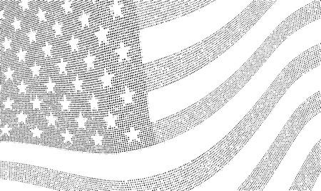USA dotted halftone flag illustration. Vector file