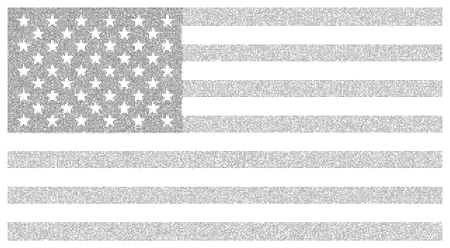 USA dotted flag illustration. Vector file for easy manipulation and custom colorin