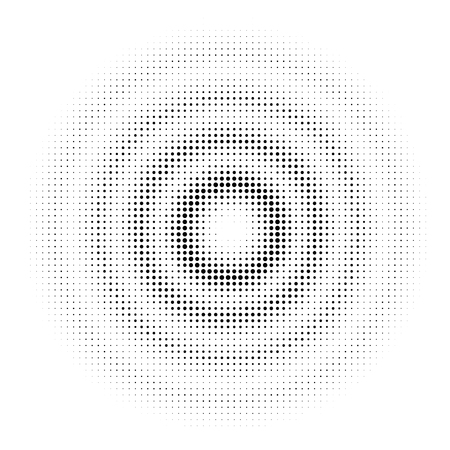 Circle Halftone Dotted on white background