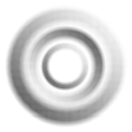 Black Halftone Dotted circle