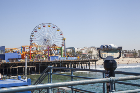 View of Pacific Park Santa Monica. California. USA