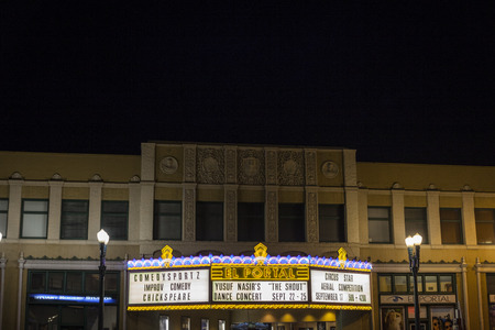 Cinema in the Valley Village neighborhood of Los Angeles. California. USA