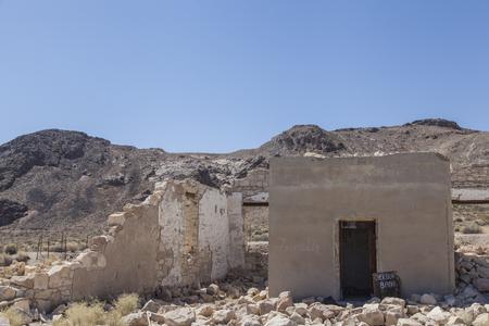 Ruins in mining village near Death Valley. USA