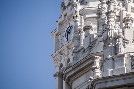 Detail of the city hall of madrid