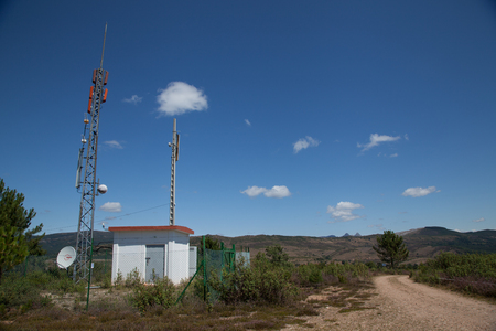 TV signal repeater Stock Photo