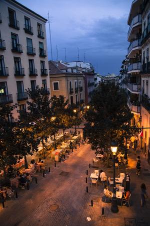 Lavapies at night. Madrid 에디토리얼