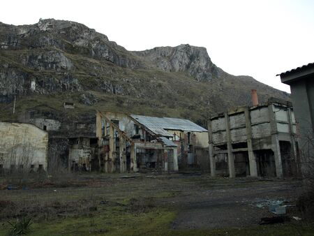 old ruined coal laundry in Leon, Spain