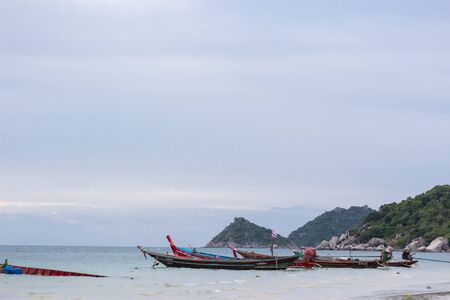 Thai traditional boat in Ko Tao