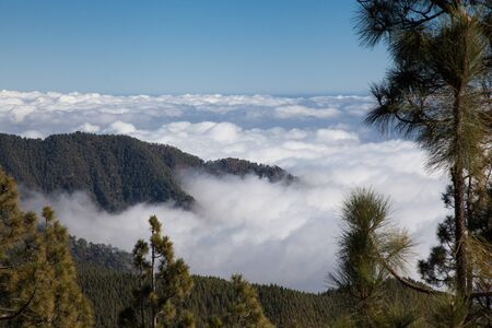 sea of clouds from Teide in Tenerife Фото со стока