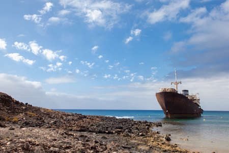 Temple Hall ship, aground in Lanzarote