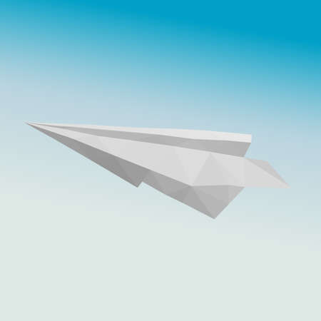 cloudless: Paper plane in polygonal style in the sky.