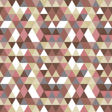 hues: Seamless vector pattern with triangles in pink, gray, brown, beige and similar tints and hues.
