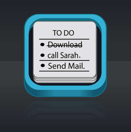 to do list: to do list button  icon