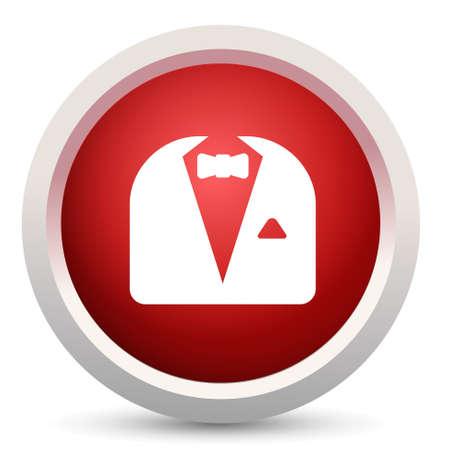 waistcoat: men suits button Illustration