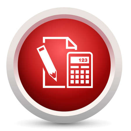 tax office: calculator paper Illustration