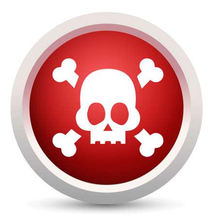 poison symbol: skull icon