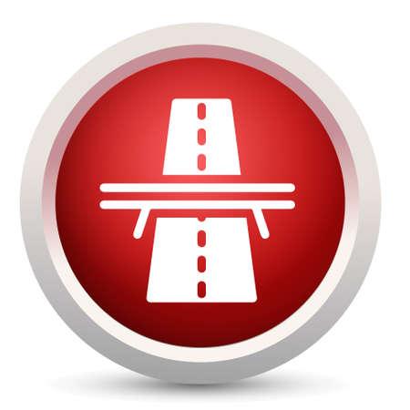 고속도로: Bridge highway icon 일러스트