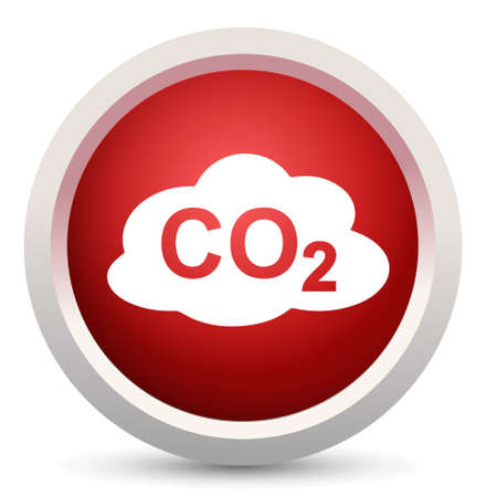 co2: co2 pollution sign icon Illustration