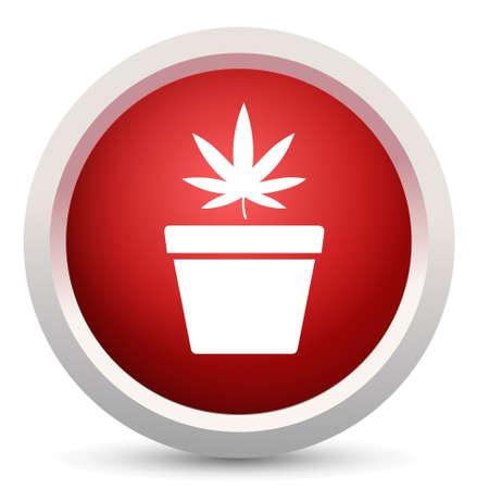 ganja: Cannabis ic�ne Illustration