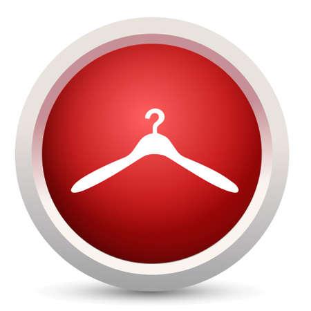 coat hanger: coat hanger sign icon Illustration
