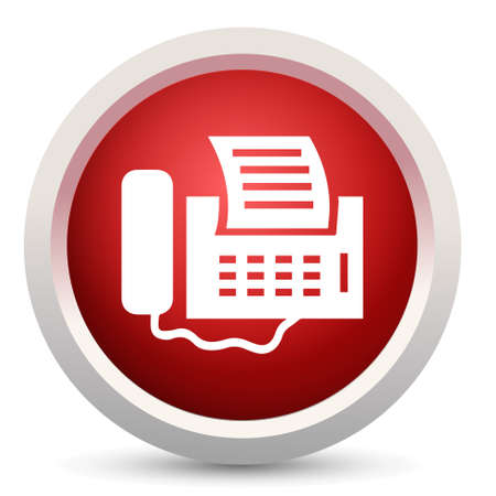 fax machine: fax machine icon Illustration