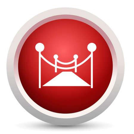 velvet rope: red carpet icon
