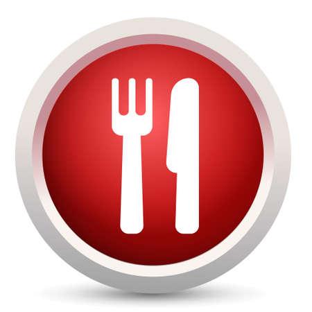 cutlery: cutlery button Illustration