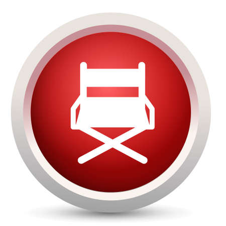 director chair: director chair icon Illustration