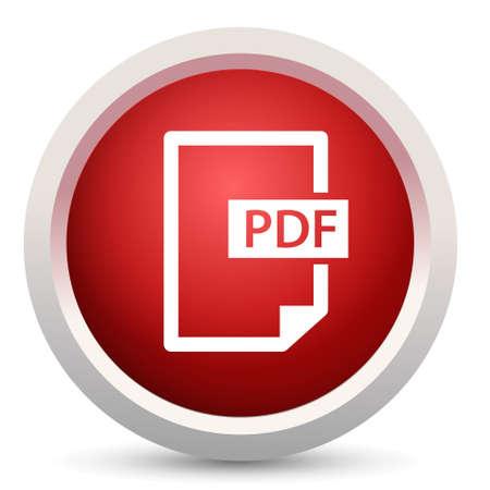 pdf: pdf file  icon Illustration