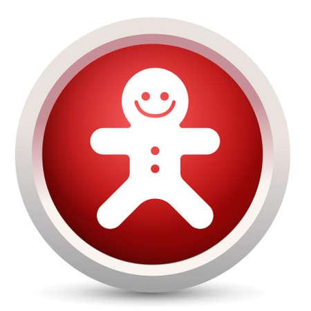 gingerbread: gingerbread  button